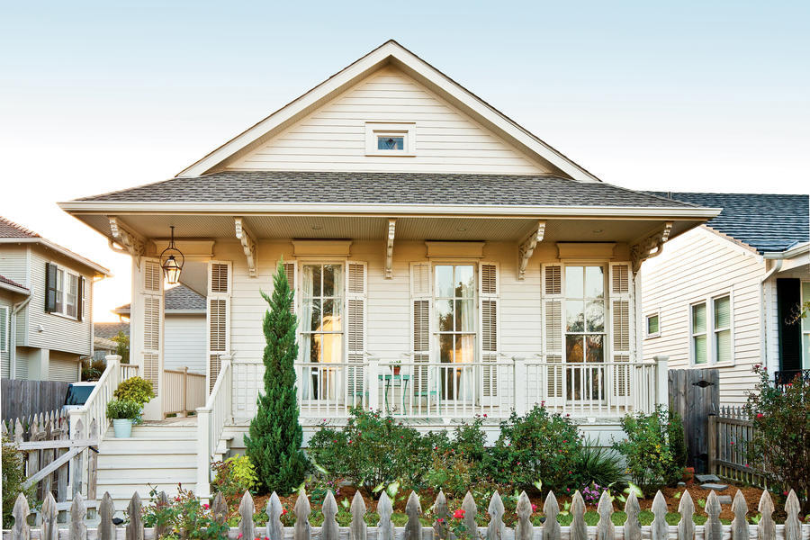 Un cottage creolo shabby chic a New Orleans facciata