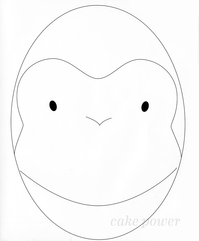 monkey face template for cake happy monkey face bunny face cakes
