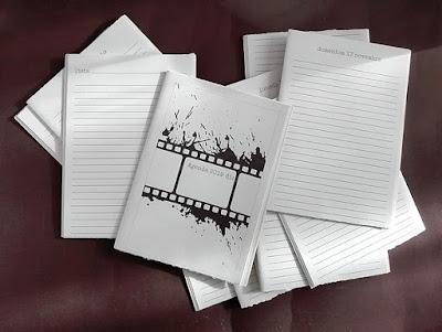 agenda rilegata a mano: fascicoli