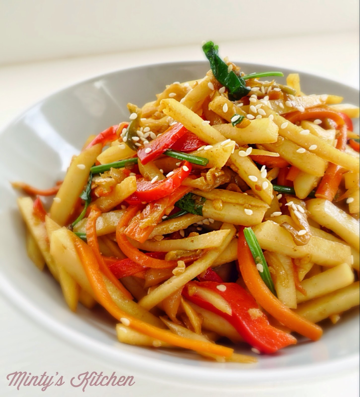 Sichuan Stir-fry Potato Strips ( 炒土豆丝)