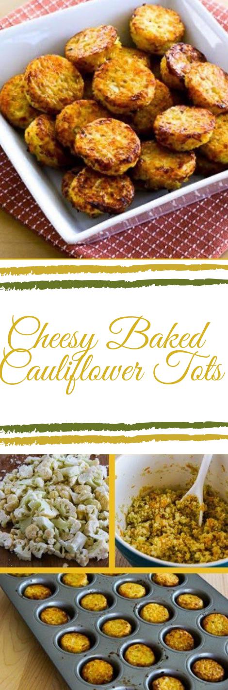 LOW-CARB CHEESY BAKED CAULIFLOWER TOTS  #cauliflower #dinner