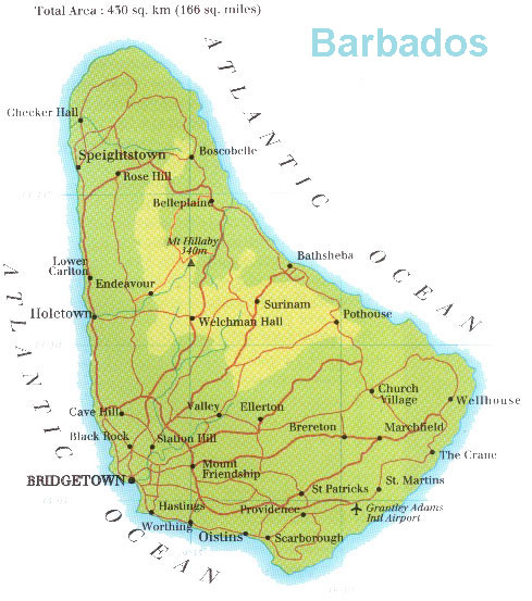 Barbados Geographical Kort Over Barbados Global Encyclopedia