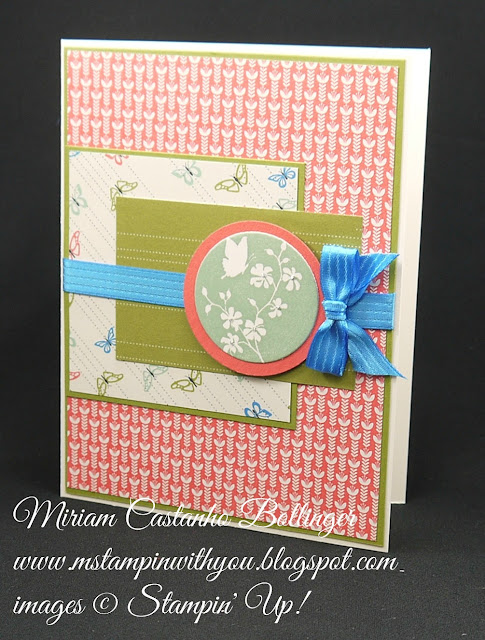 Miriam Castanho-Bollinger, #mstampinwithyou, stampin up, demonstrator, mm, all occasions card, pretty petals dsp, serene silhouettes, big shot, circle collections framelit, su
