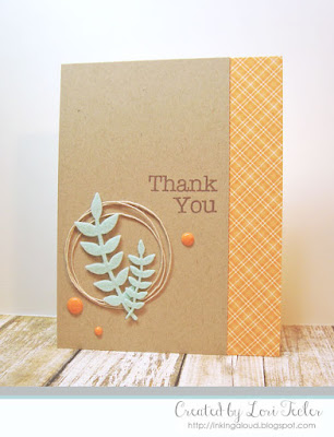 Leafy Thanks card-designed by Lori Tecler/Inking Aloud-stamps and dies from My Favorite Things