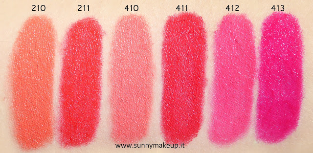 Pupa - I'm Lipstick Limited Edition: 210 Amber Gold, 211 Amber Glazed, 410 Strawbrry Juice, 411 Strawberry Passion, 412 Rose Couture, 413 Rose Pop.