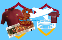 Logo Concorso #IoRegaloGialloRosso e vinci maglie, trasferte e esperienze con la squadra della Roma