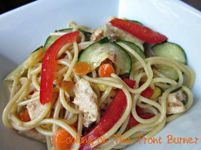 Cooking on the Front Burner: Oriental Pasta Chicken Salad