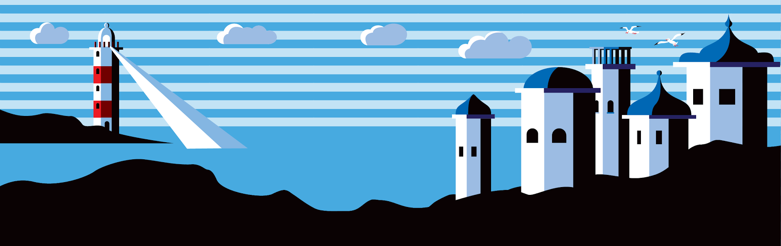 Greek Island - Jen Haugan Animation & Illustration