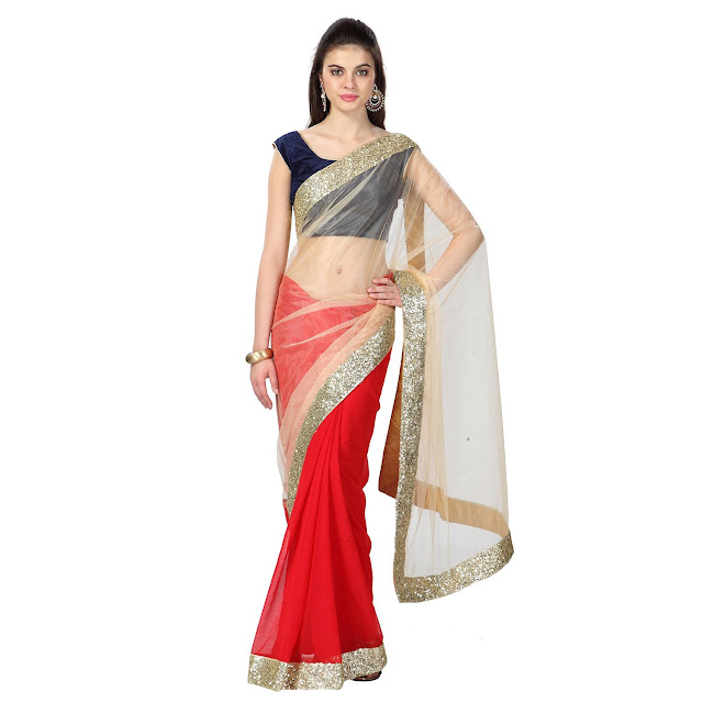 4e9c98df080 Half Sarees for Girls and Women with 70% off on top brands