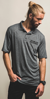 http://www.adventureharley.com/mens-polo-shirt-3-button-down-collar-heathered-grey-h726-hb8m/