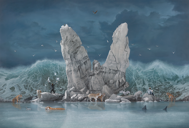 Green Pear Diaries, arte, pintura, Joel Rea, The Promised Land