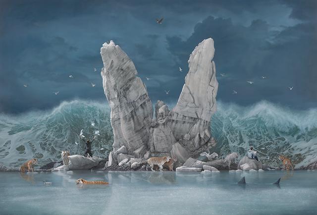 Green Pear Diaries, arte, pintura, Joel Rea, The Promised Land
