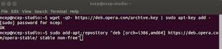 menambahkan repositori Opera