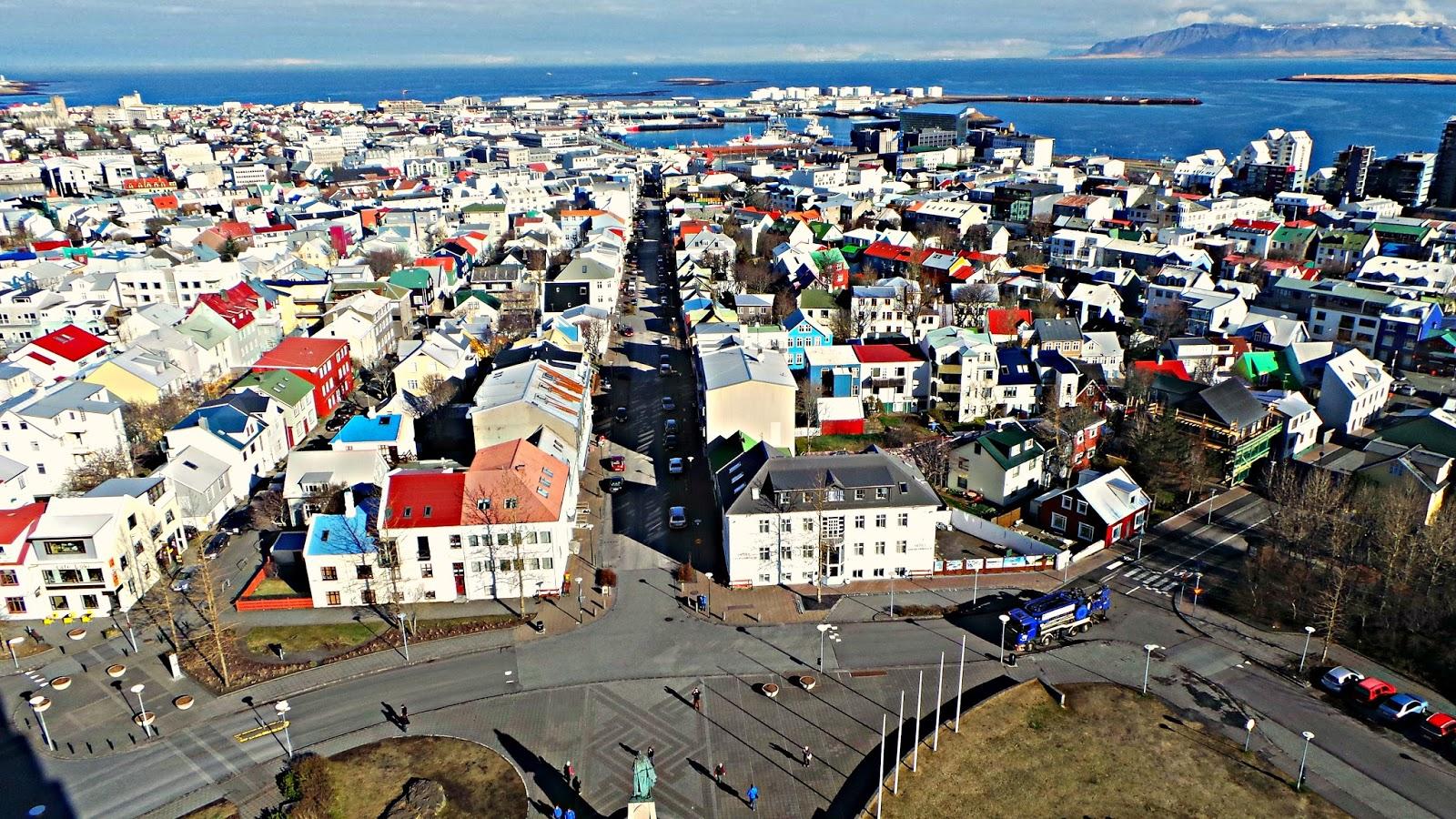 Reykjavik ariel view