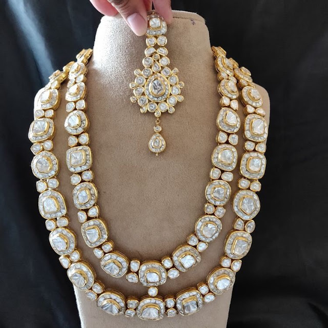 Two Layer Flat Diamond Long Chain