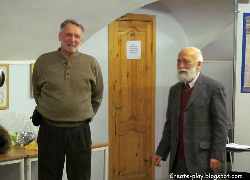 Писатель Валерий Воскобойников и художник Михаил Бычков