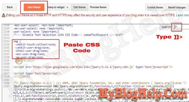 CSS Codes into Blogger Template