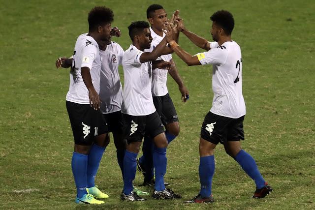 Fiji rescató un emapte a dos goles contra Nueva Caledonia en la eliminatoria Oceanía Rusia 2018