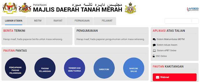 Rasmi - Jawatan Kosong (MDTM) Majlis Daerah Tanah Merah Terkini 2019