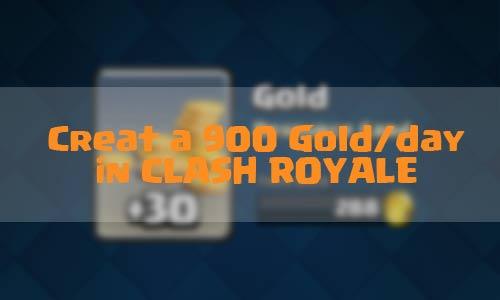 Cara mendapatkan 900 Gold di Clash Royale
