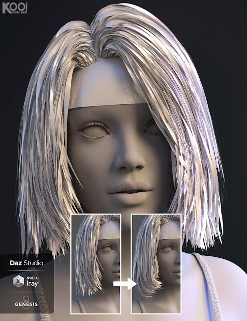 Bblythe Hair for Genesis 8 Female