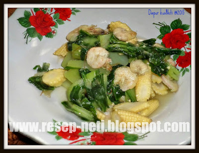 simple stir-fry bokchoy recipe at kusNeti kitchen @2015