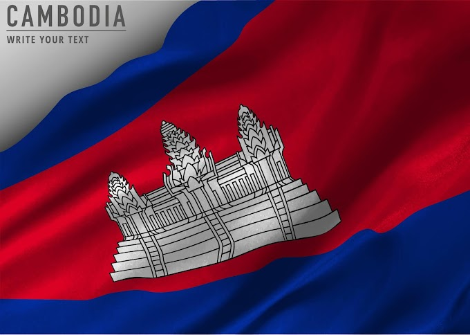 Cambodian Flag Background free vector