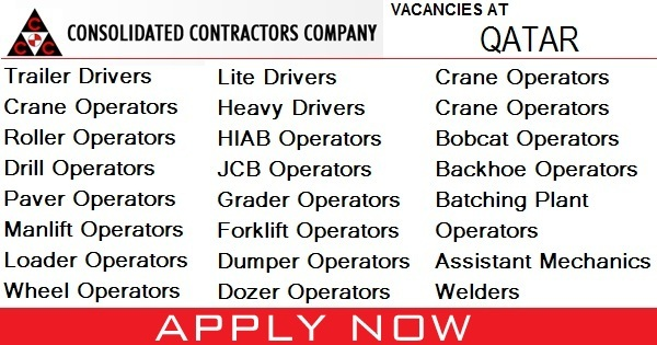 Consolidated Contractors Company Vacancies - Gulf Job Vacancies