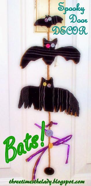 Spooky Door Decor---Bats!