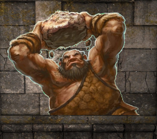 Hill Giant in The Ogre's Camp