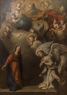 Novelli's Annunciation, which he painted in the church of Santissima Annunziata