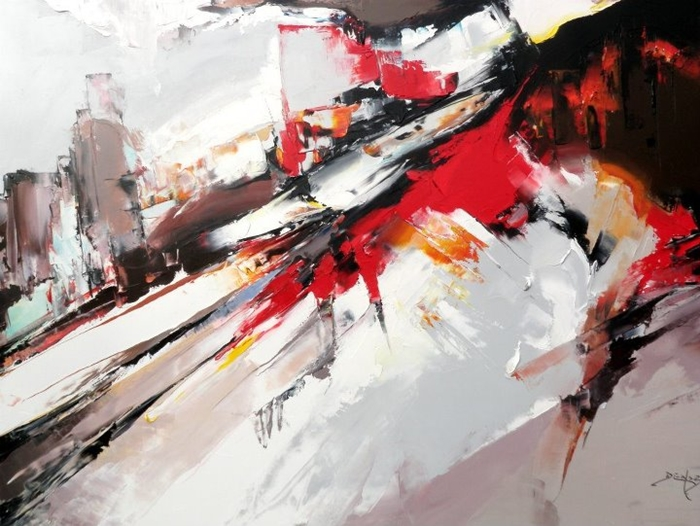 Daniel Densborn 1946 | French Abstract Knife painter