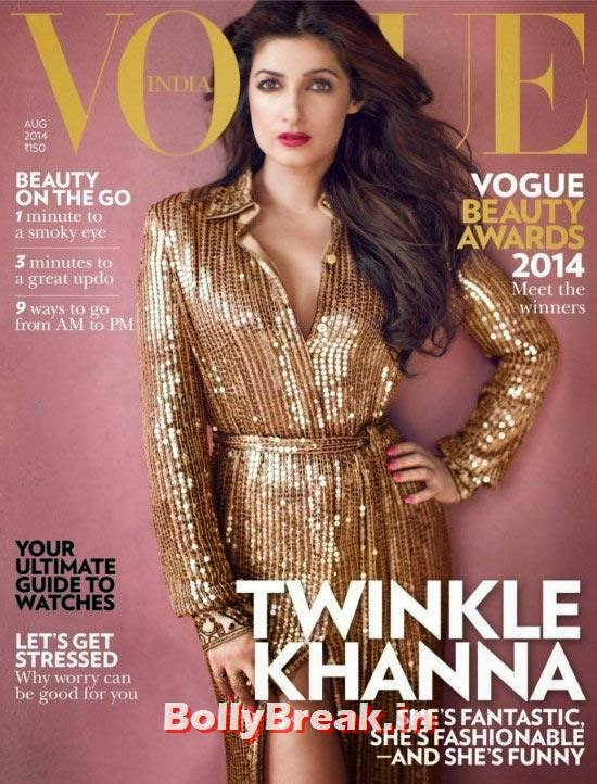 Twinkle Khanna, August 2014 Indian Magazine Covers