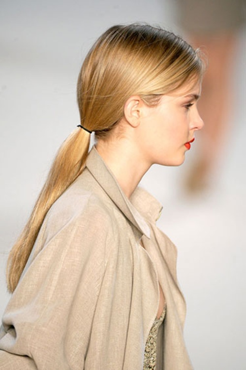 Ponytail Hairstyles 2013 14 Low Ponytail Hair Trend
