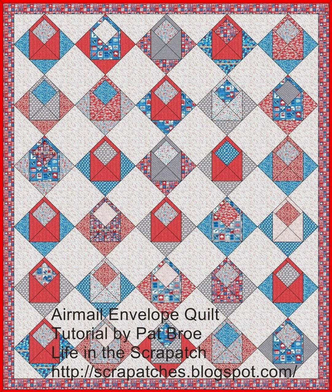 Airmail Envelope Quilt Tutorial