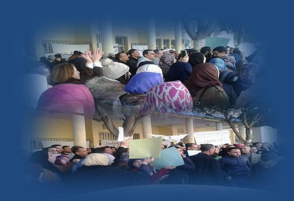 نددوا بالتهديدات : الأساتذة يحتجون بمديرية التربية لولاية الشلف