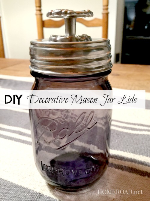 How to Make Decorative Lids for Mason Jars www.homeroad.net