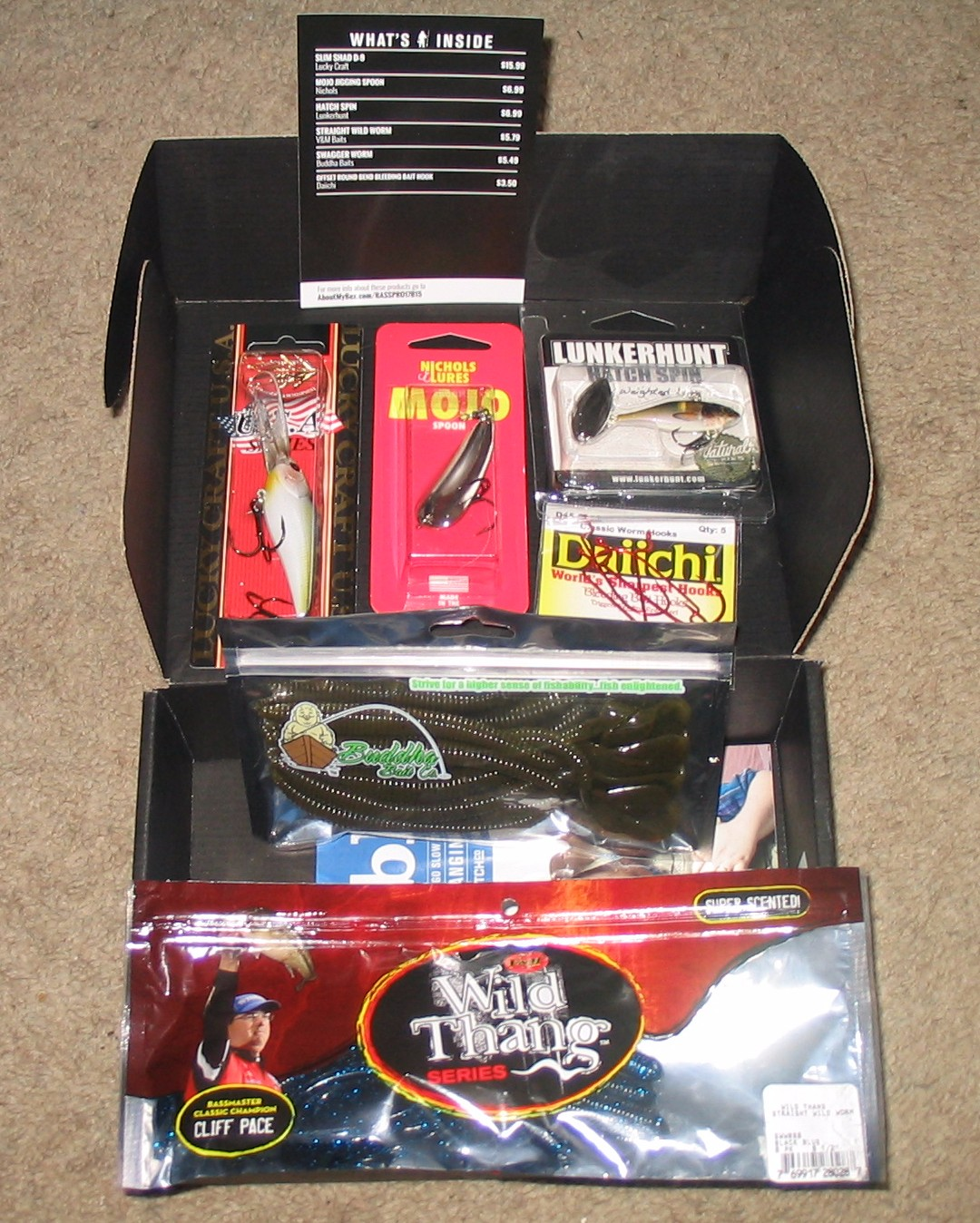Bass pundit disappointed in the second mystery tackle box for Mystery fishing box