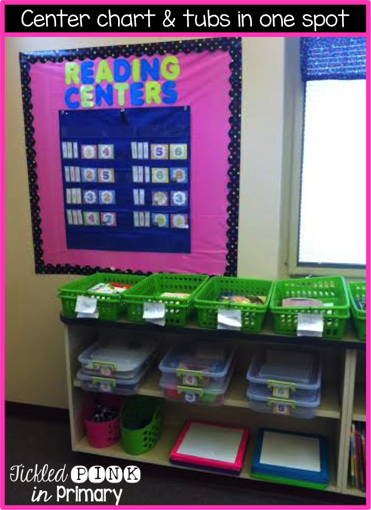 Center Chart and Tubs - Literacy Centers