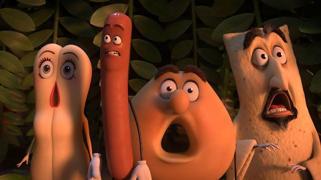 Les personnages de Sausage Party, aussi consternés que moi devant le film