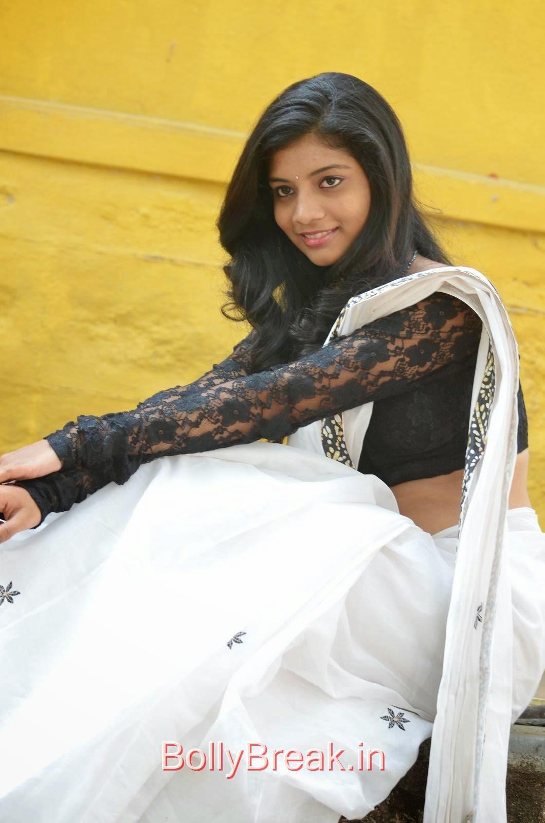 Bindu images, Bindhu Latest Hot Pics In White Saree