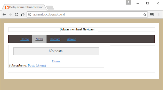 Membuat Menu Navigasi Template Blog Seo Fast Load
