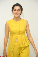 Taapsee Pannu looks mesmerizing in Yellow for her Telugu Movie Anando hma motion poster launch ~  Exclusive 046.JPG