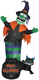 Animated Airblown Wobbling Witch for Halloween