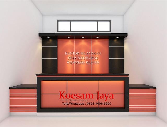 desain interior kantor kelurahan di sukoharjo