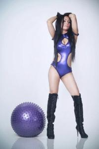 Foto Dj Olive Purple montok dan cantik