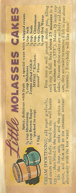 AllThingsVintage Little Molasses Cakes Recipe from GOLD MEDAL Flour