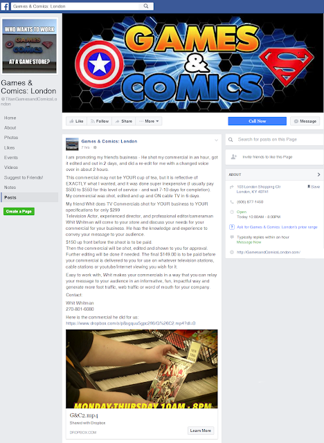 London Games & Comics FB Post