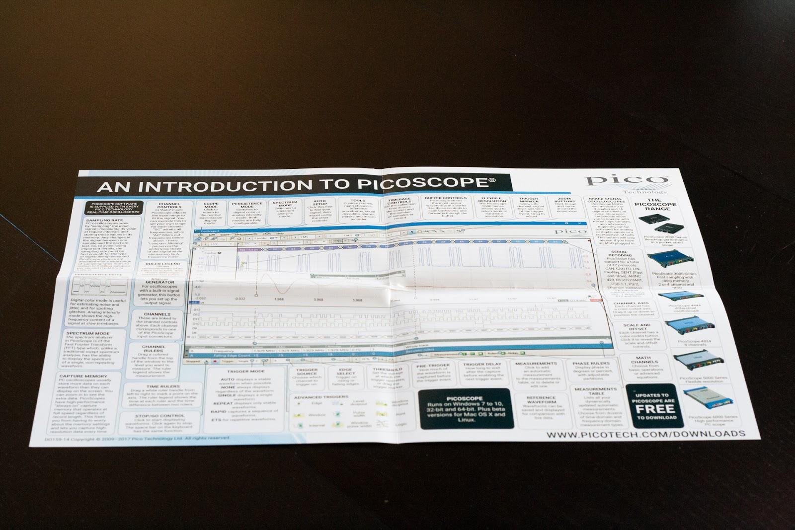 Poster d'introduction au logiciel Pico, utilisé avec tous leurs oscilloscopes