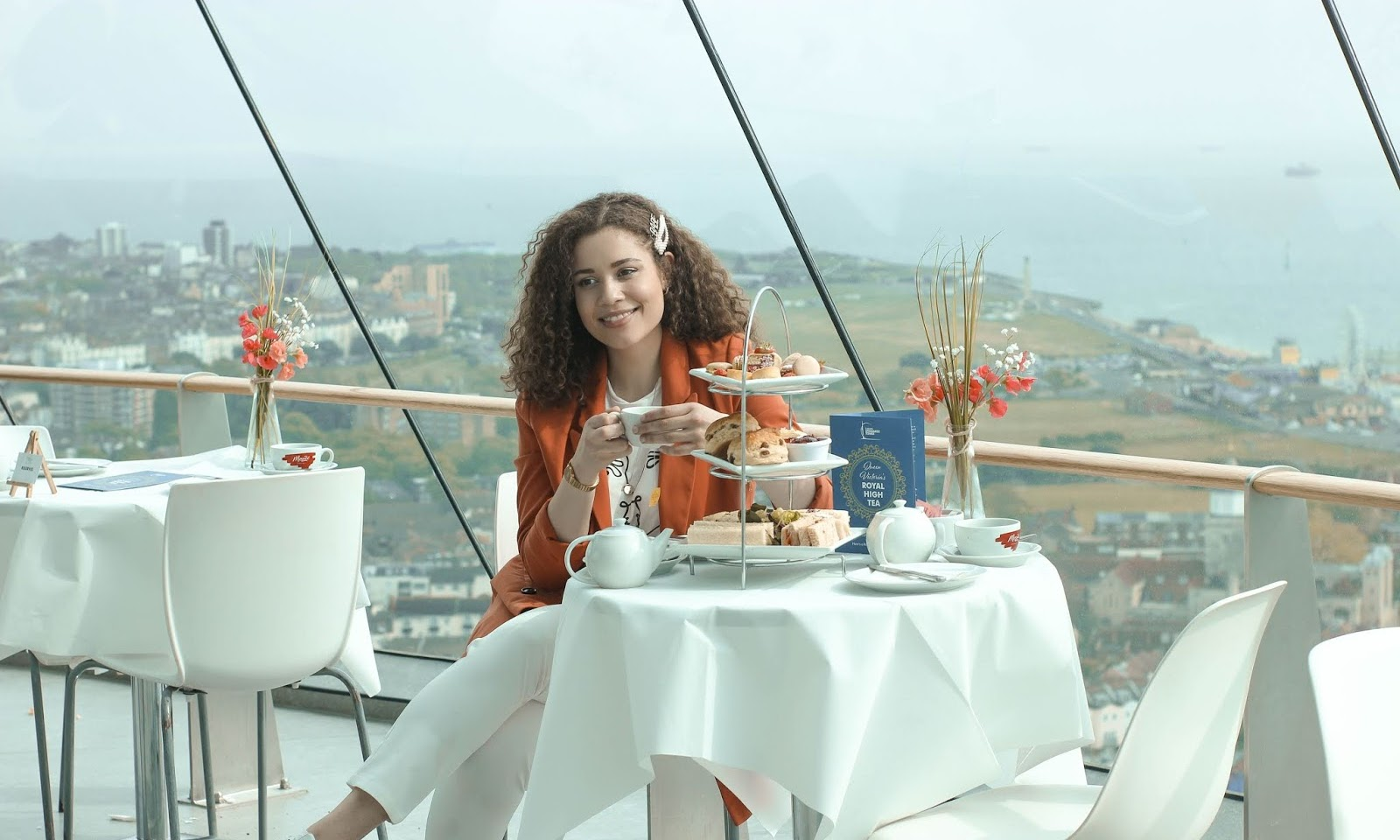 Royal Afternoon Tea in the Clouds with Spinnaker Tower, Portsmouth
